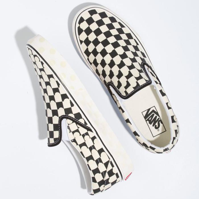 VANS バンズ ヴァンズ スニーカー スリッポン (VN0A33TB45R) CLASSIC SLIP-ON - UV INK / TRUE WHITE クラシックスリップオン UVインク ホワイト メンズスニーカー スケートシューズ スケシュー 靴 男性用