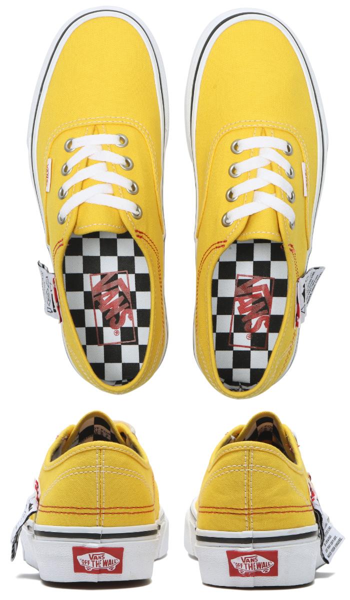VANS バンズ ヴァンズ スニーカー ローカット (VN0A4UUC1AE) AUTHENTIC HC (DIY) - LEMON CHROME/T.WHITE オーセンティックHC レモンクローム イエロー メンズスニーカー スケートシューズ スケシュー 靴 男性用