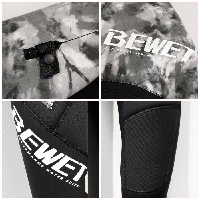 BEWET ビーウエット ウエットスーツ メンズ OCEAN FREEHOLE 3mmフルスーツ オーシャンフリーホールモデル 3フル ビーウェット ウェットスーツ サーフィン 男性用