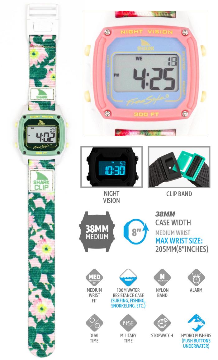 Freestyle フリースタイル 腕時計 SHARK CLASSIC CLIP - PRICKLY PEAR シャーク クラシック クリップ デジタル時計 ナイロンベルト メンズ レディース 男女兼用 ユニセックス プレゼント