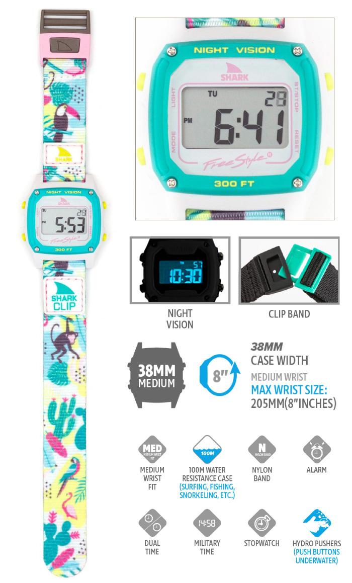 Freestyle フリースタイル 腕時計 SHARK CLASSIC CLIP - MONKEY BUSINESS シャーク クラシック クリップ デジタル時計 ナイロンベルト メンズ レディース 男女兼用 ユニセックス プレゼント