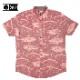 SALTY CREW ソルティークルー メンズ ボタンシャツ 51-102 LONGLINE WOVEN カジュアルシャツ 半袖シャツ マグロ 総柄 プリント 男性用