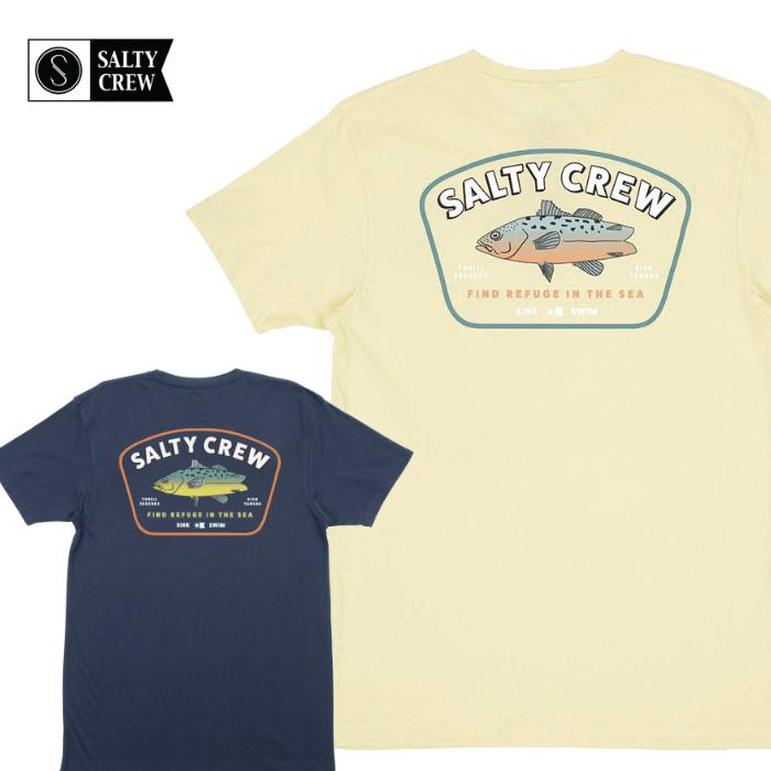 SALTY CREW ソルティークルー メンズ Tシャツ 51-202 CREATURE PREMIUM S/S TEE 半袖シャツ クルーネック 男性用 フィッシュボード バックプリント