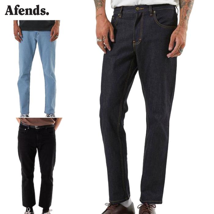 【日本正規代理店品】 AFENDS アフェンズ メンズ デニムパンツ M181450-191 Society ジーンズ ジーパン ボトムス ロングパンツ 長ズボン 男性用