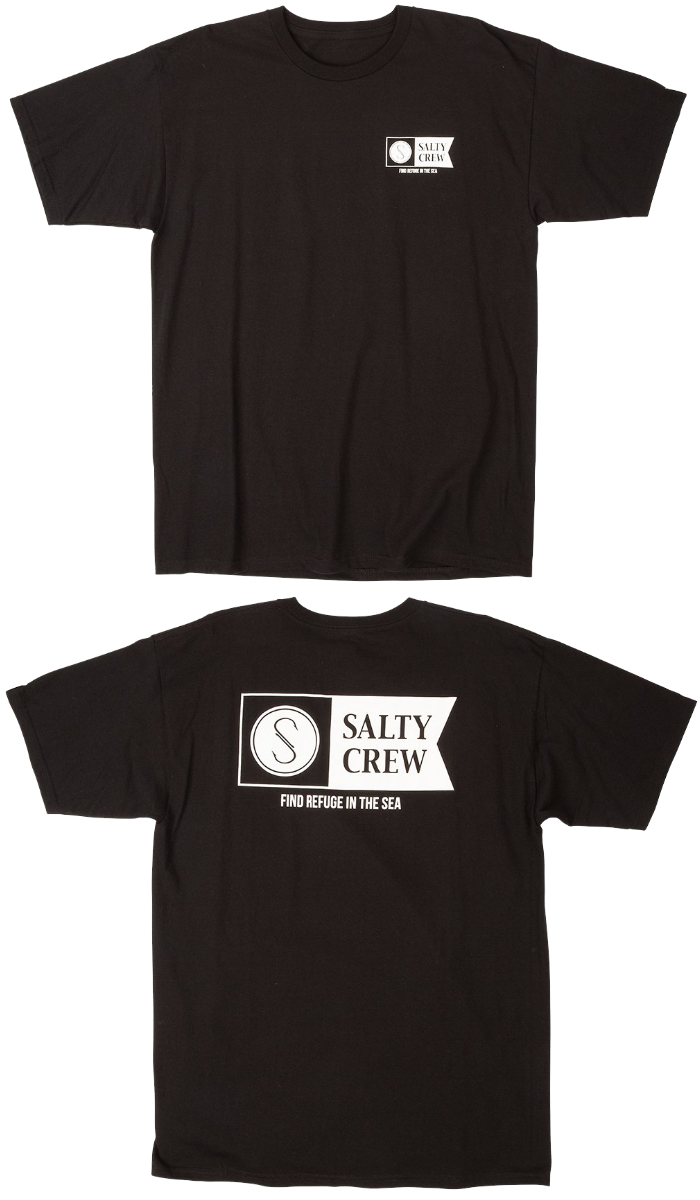 SALTY CREW ソルティークルー メンズ Tシャツ 51-208 ALPHA STANDARD S/S TEE 半袖シャツ クルーネック 男性用 ロゴプリント バックプリント