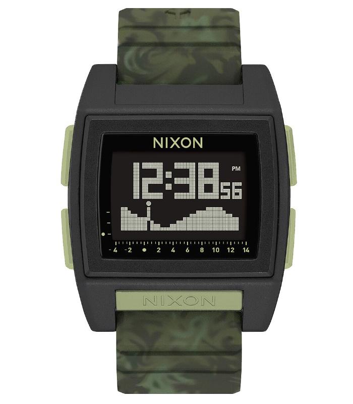 NIXON ニクソン 腕時計 THE BASE TIDE PRO - Green Camo - A1307-1695 ベースタイドプロ グリーンカモ デジタル時計 タイドグラフ クロノグラフ 100M/10気圧防水 メンズ サーフィン アウトドア 誕生日 クリスマス プレゼント