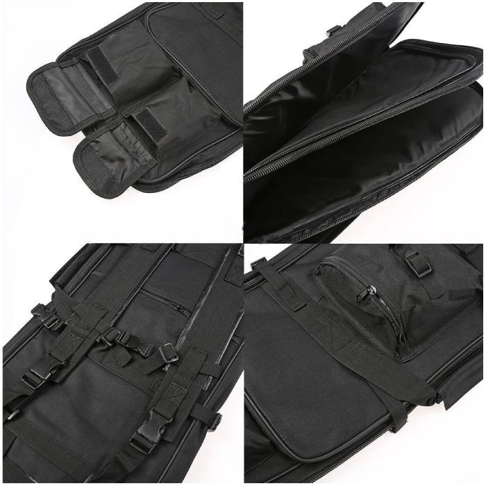 ガンケース ソフト 85cm キャリーバッグ ライフルケース エアガン バックパック 多機能 保護 電動ガン 装備 サバイバル サバゲー