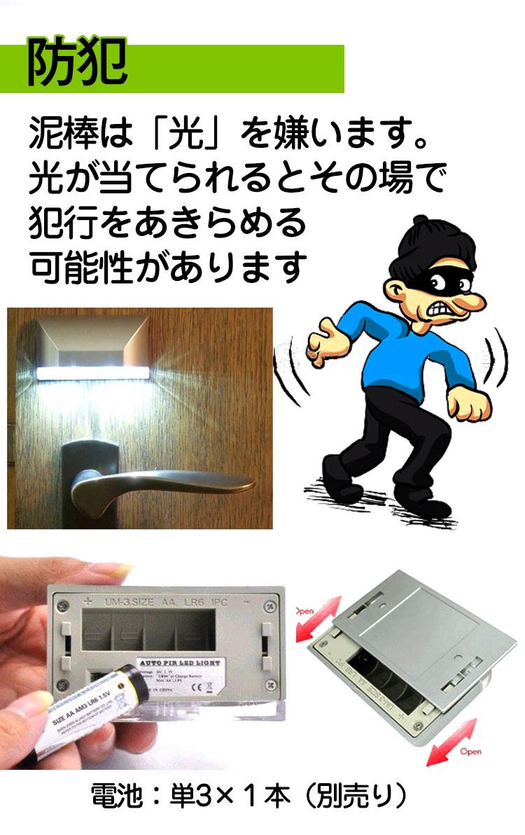人感センサーLED玄関ライト sl028