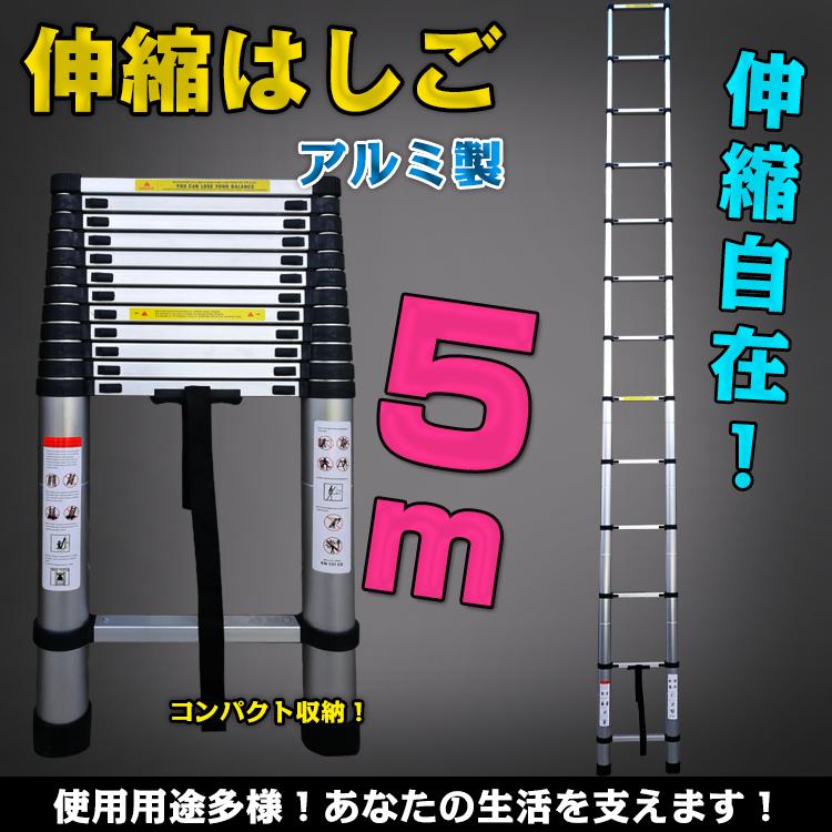 5m伸縮はしご zk135