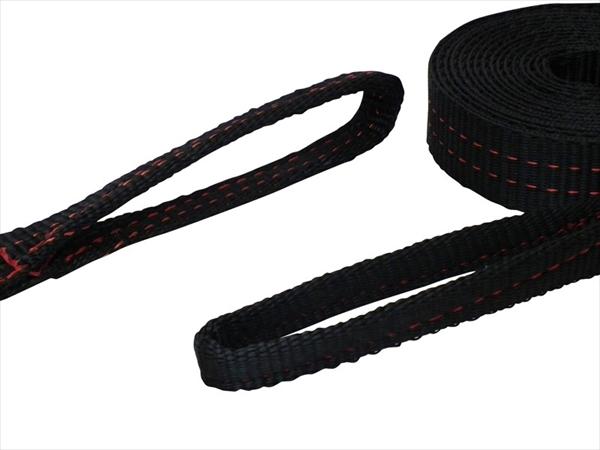 ラッシングベルト黒 アイ2ton 幅35mm 長さ0.5+4.5m