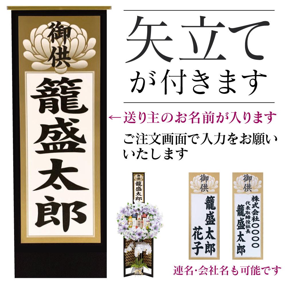籠 盛 【MY-100】造花(胡蝶蘭)