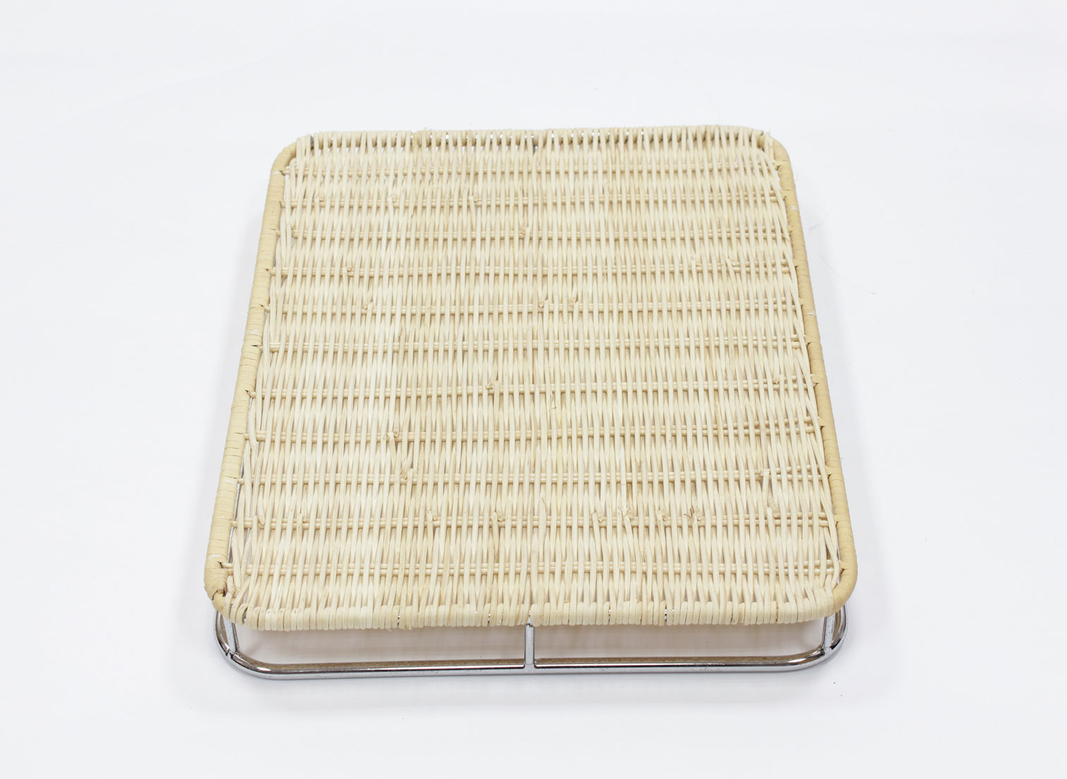 籐枠付きすのこ角(小)シルバー(OUTLET商品)