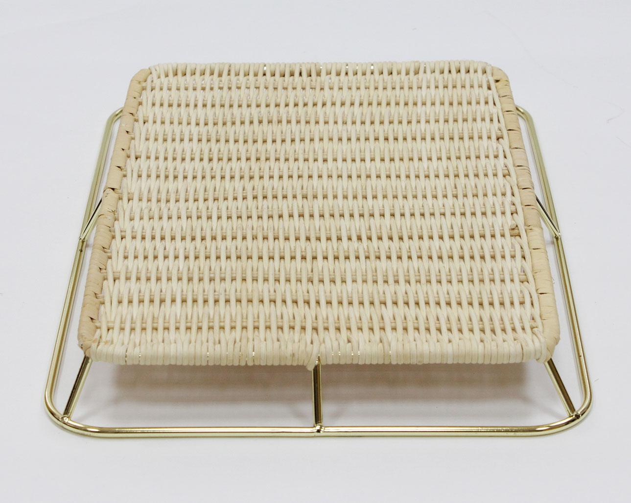 籐枠付きすのこ重ね型ゴールド(OUTLET商品)