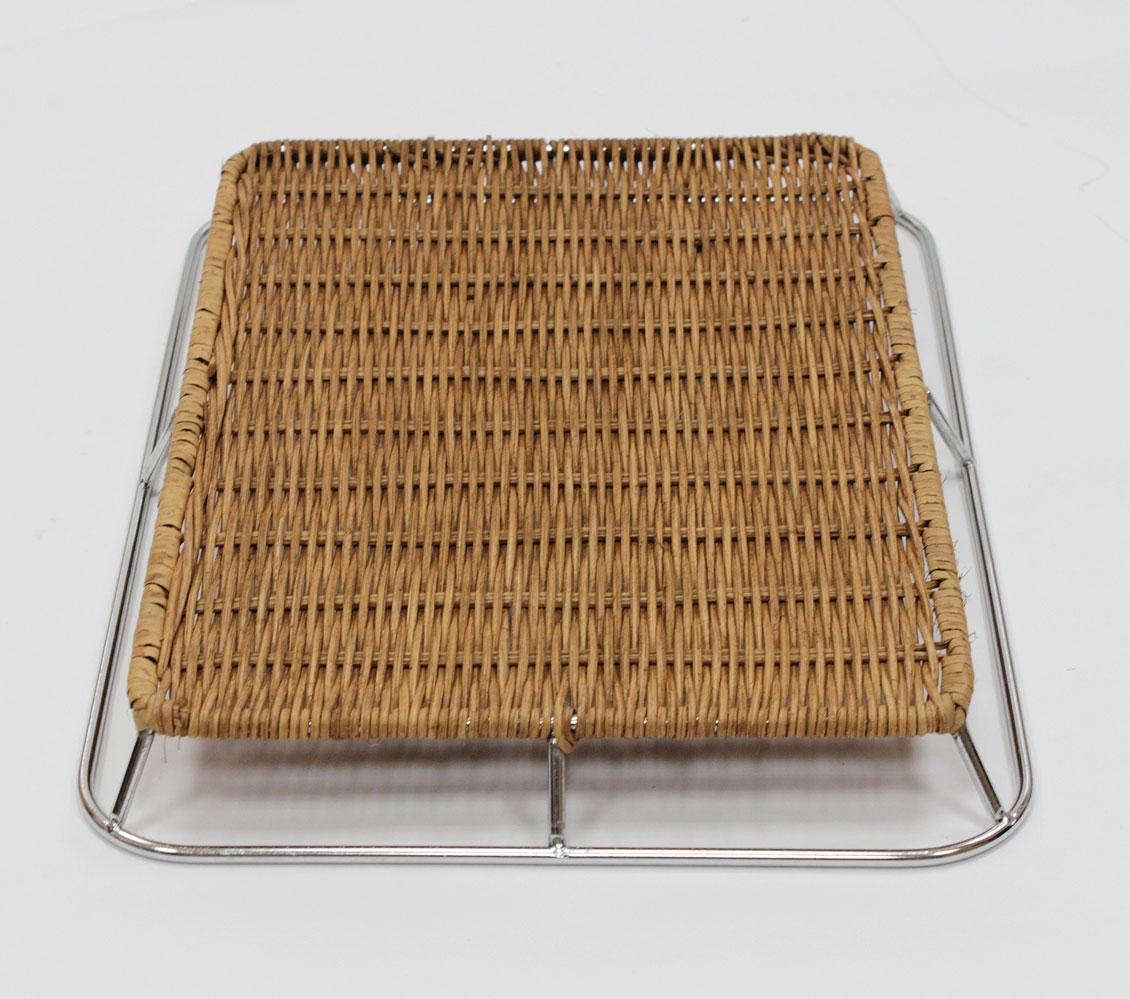 籐枠付きすのこ重ね型シルバー(OUTLET商品)