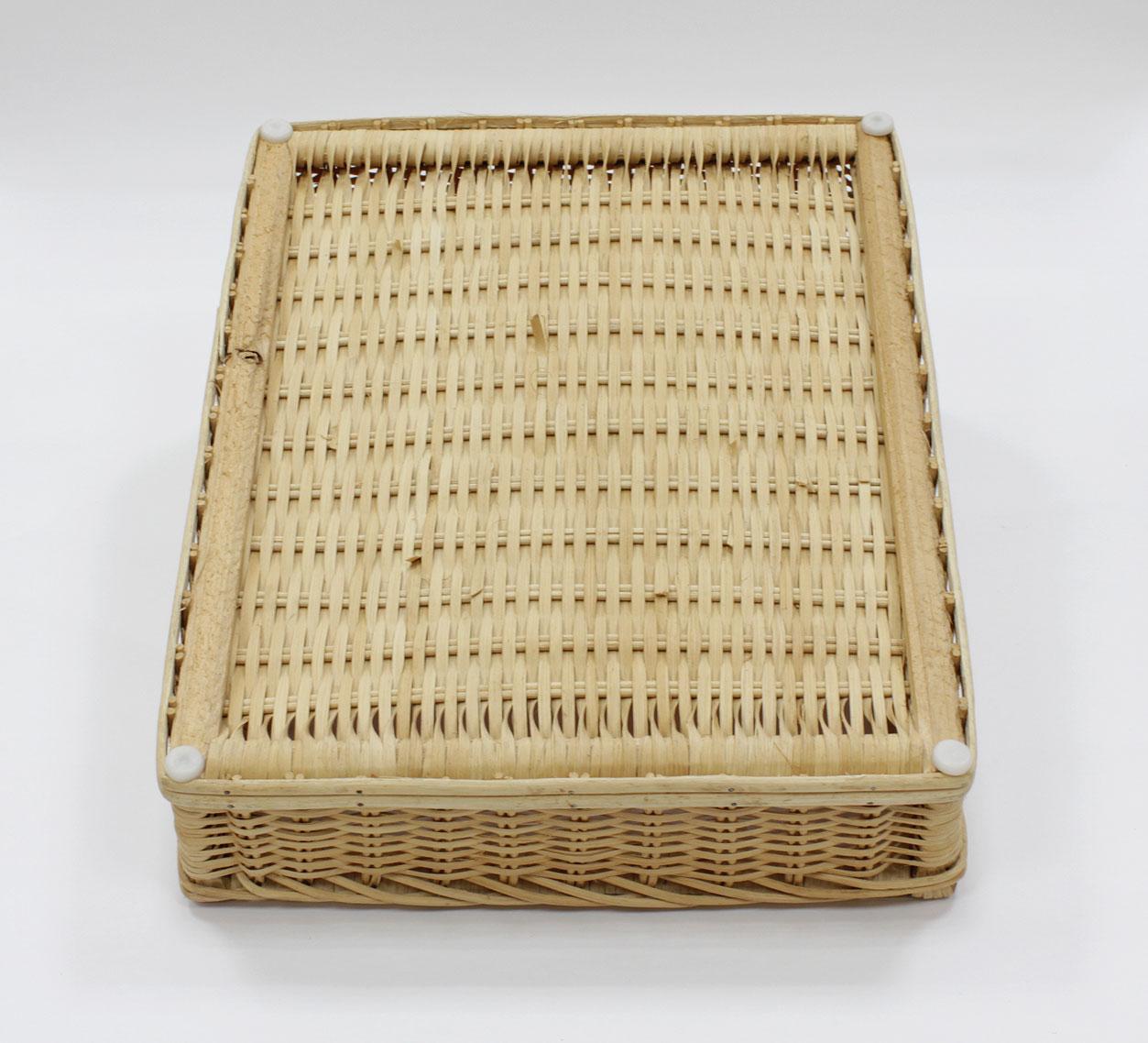 籐木枠傾斜型バスケット(OUTLET商品)