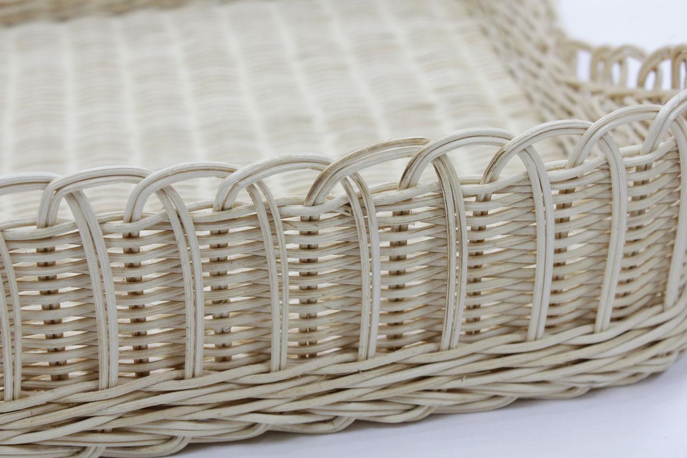 籐飾り編みバスケット42号(OUTLET商品)