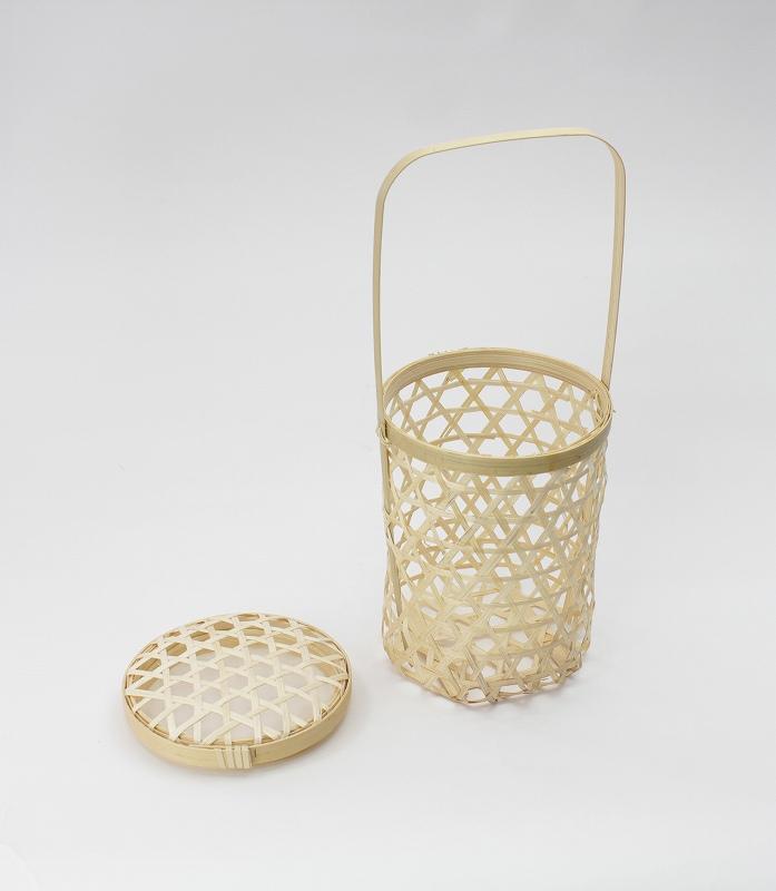 竹かご六ツ目円柱型 一貫張り用 単品