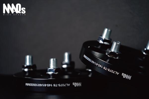 100 4H 15mm 20mm P1.25 P1.5 ワイドトレッド スペーサー AL7075-T6 MAQs アルミ ホイール 2枚 ワイトレ