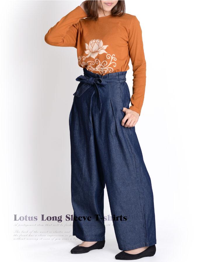 着るだけで雰囲気漂う。ロータスロングスリーブTシャツ