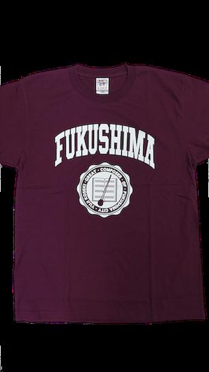 【安彦染工場】FUKUSHIMAロゴ Tシャツ