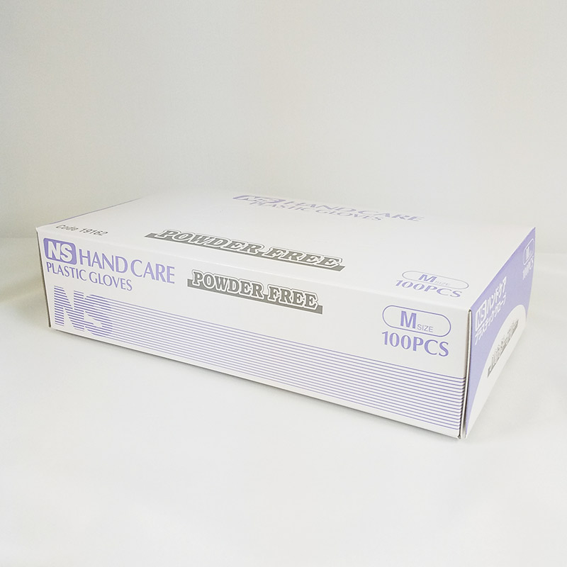 NSハンドケアプラスチックグローブ パウダーフリー(即日出荷)
