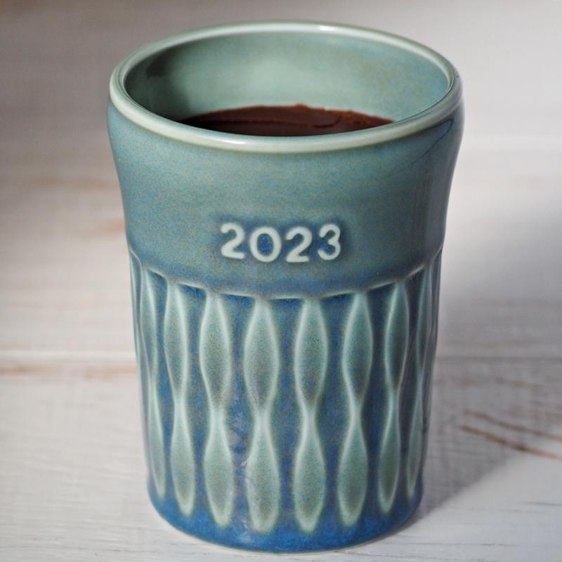 モスグリーン陶器入り アイリッシュウィスキー生チョコレート