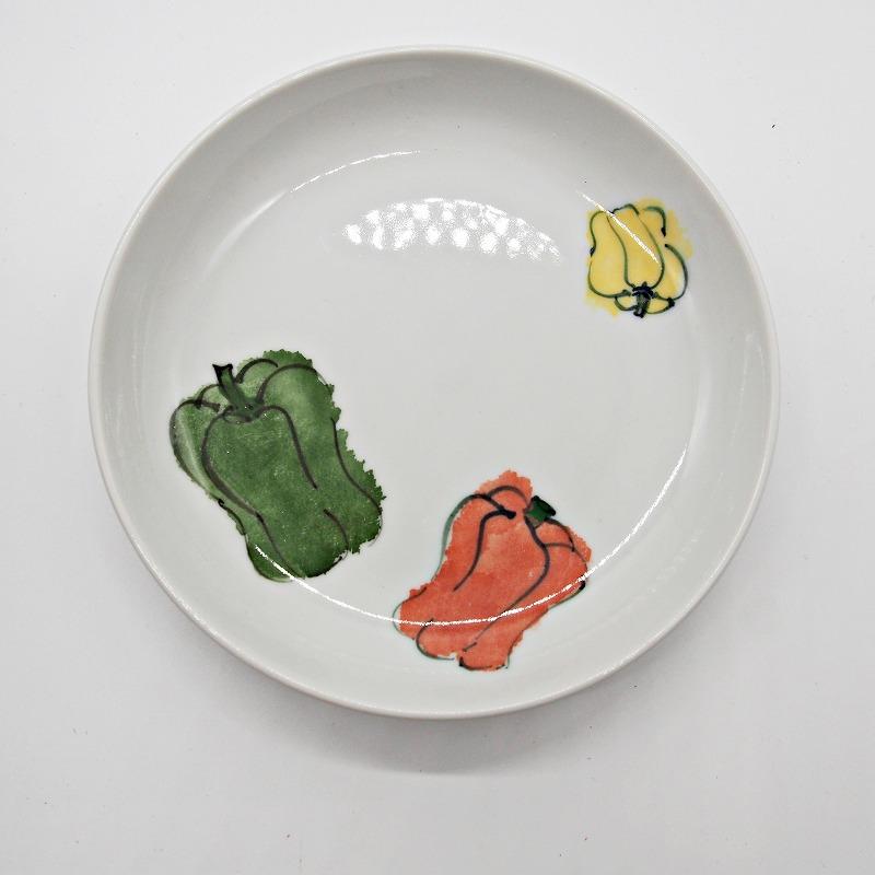 野菜の手描きの絵皿【1】