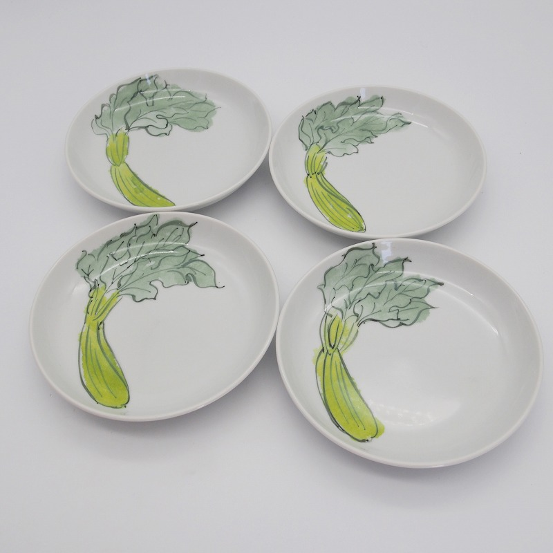 野菜の手描きの絵皿【3】