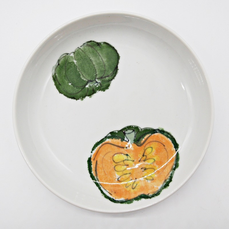 野菜の手描きの絵皿【5】
