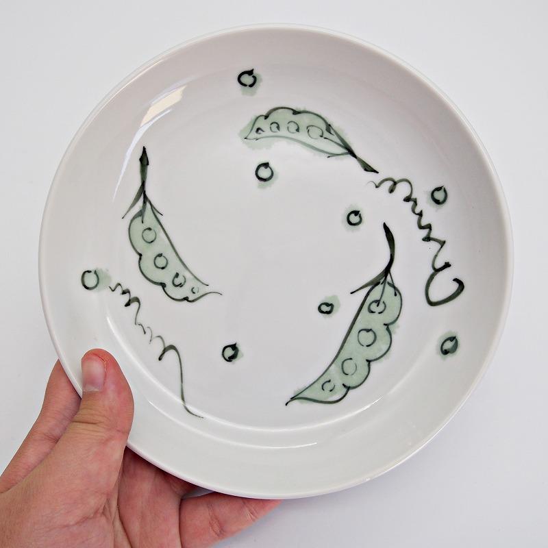 野菜の手描きの絵皿【9】