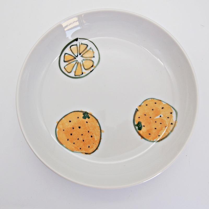 野菜の手描きの絵皿【11】