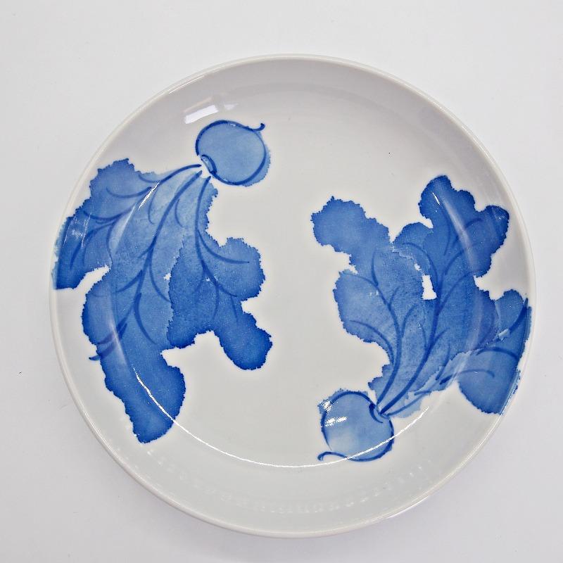 野菜の手描きの絵皿【13】