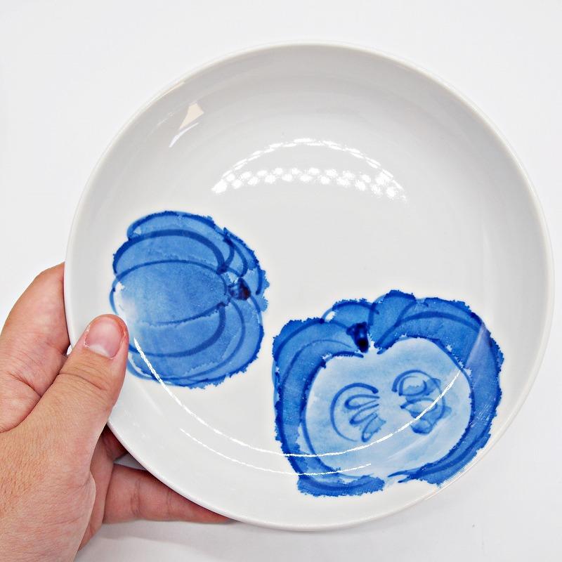 野菜の手描きの絵皿【16】