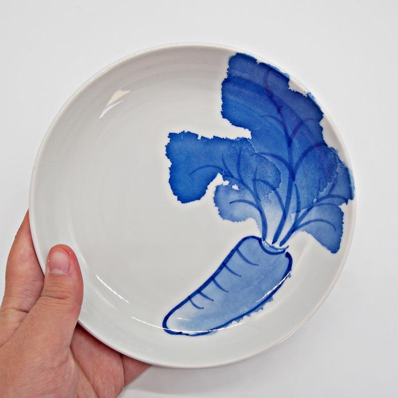 野菜の手描きの絵皿【17】