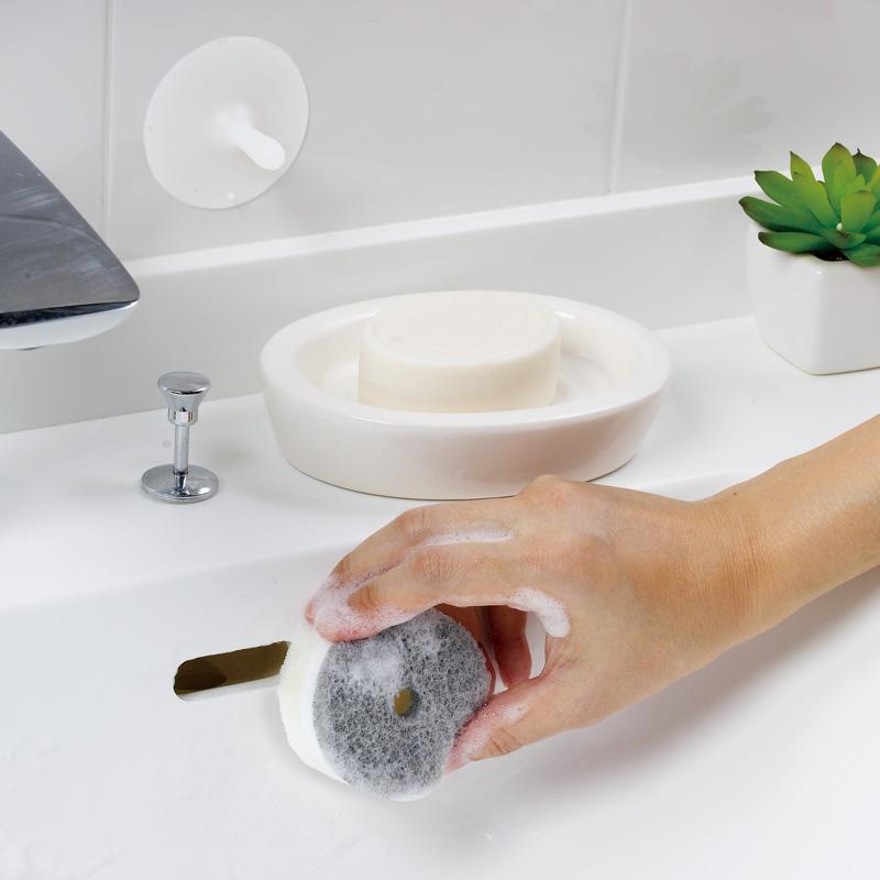 洗面スポンジ POCO吸盤付き W615