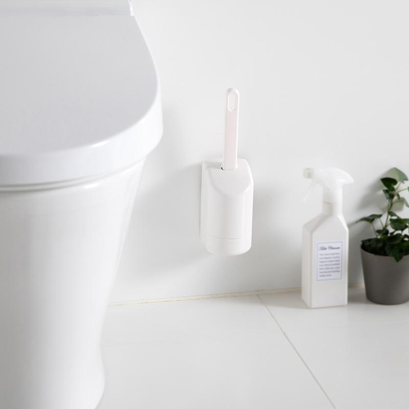 トイレ フチ裏スッキリ ブラシ ミニ (ホワイト) W085W