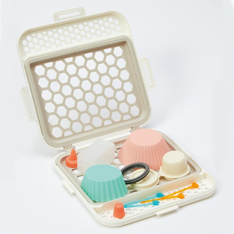 食洗機用小物ネット(ホワイト) K693