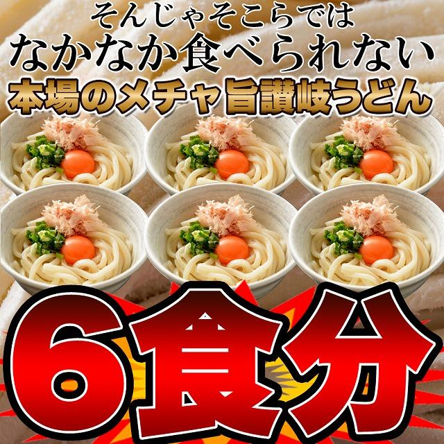 鎌田醤油特製ダシ醤油6袋付き!!讃岐うどん6食分【送料無料】
