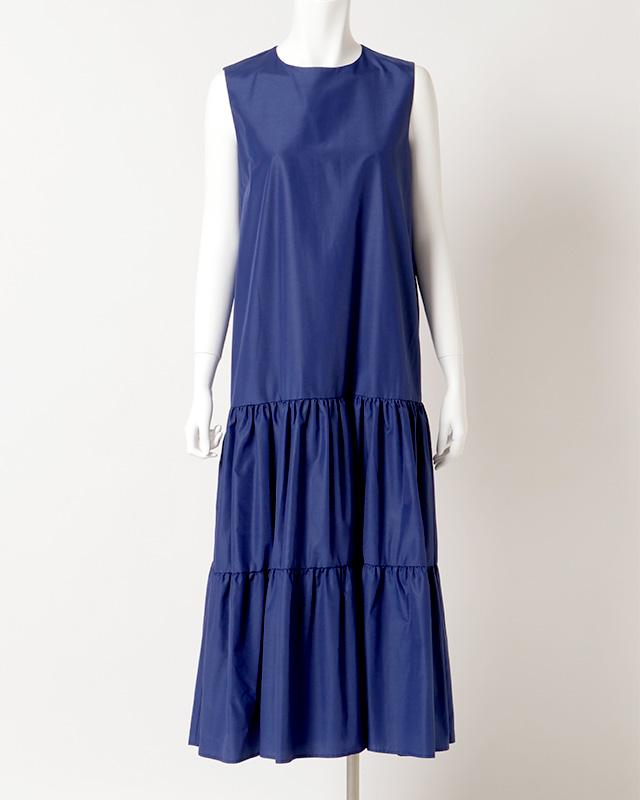 sleeveless gathered maxi onepiece(blue)