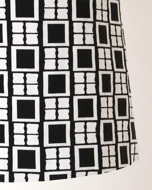 black collar geometric onepiece
