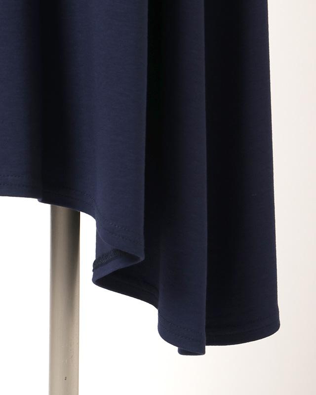 shoulder frills onepiece(navy)