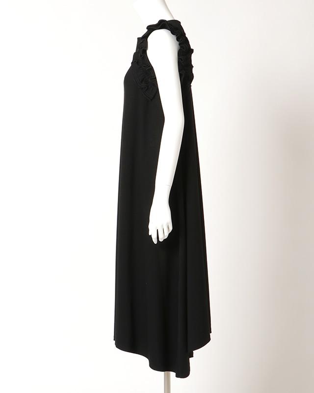 shoulder frills onepiece(black)