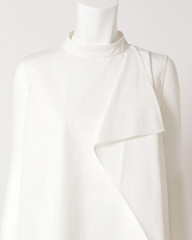 monotone draped onepiece(white)