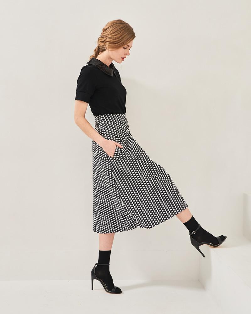 AWラメドットスカート