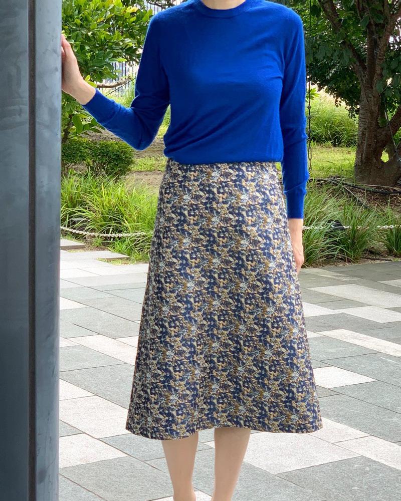 【final mark down sale50%OFF】 floral jacquard skirt
