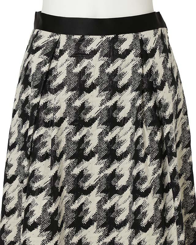 monotone jacquard skirt