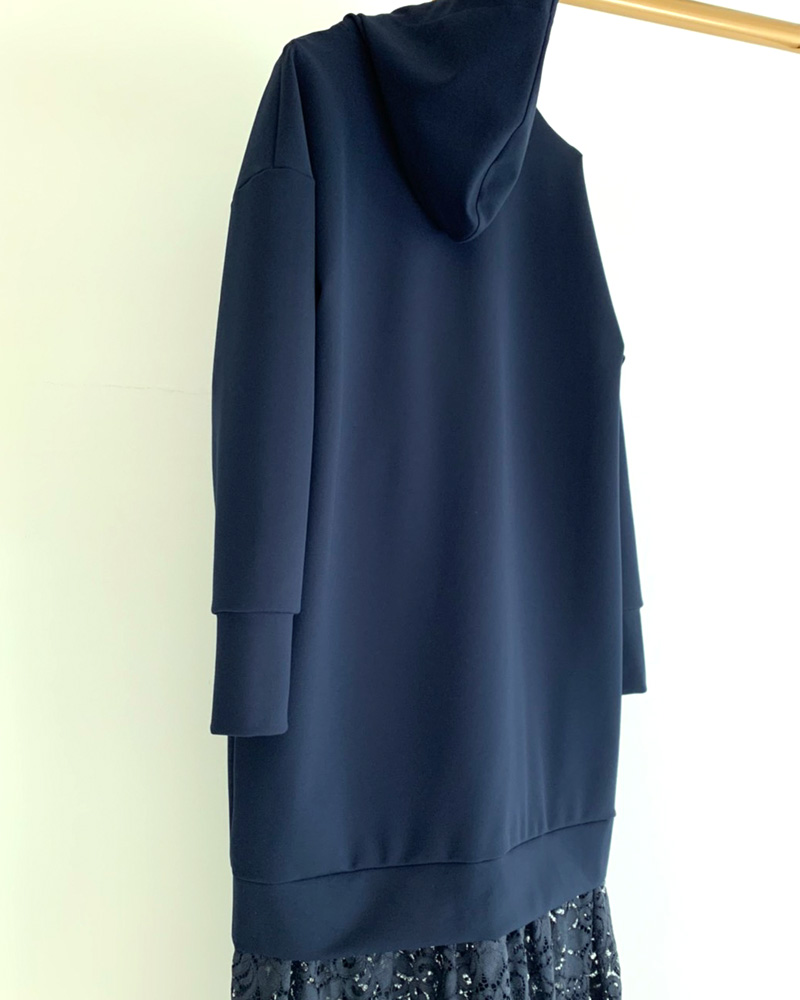 lace long pullover(navy×navy)