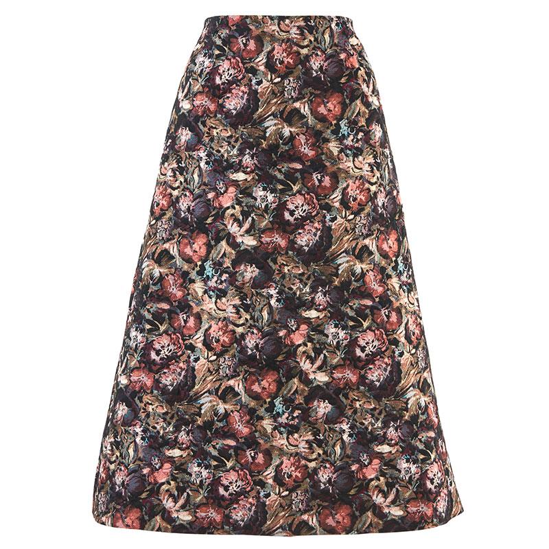 AWフラワージャカードスカート