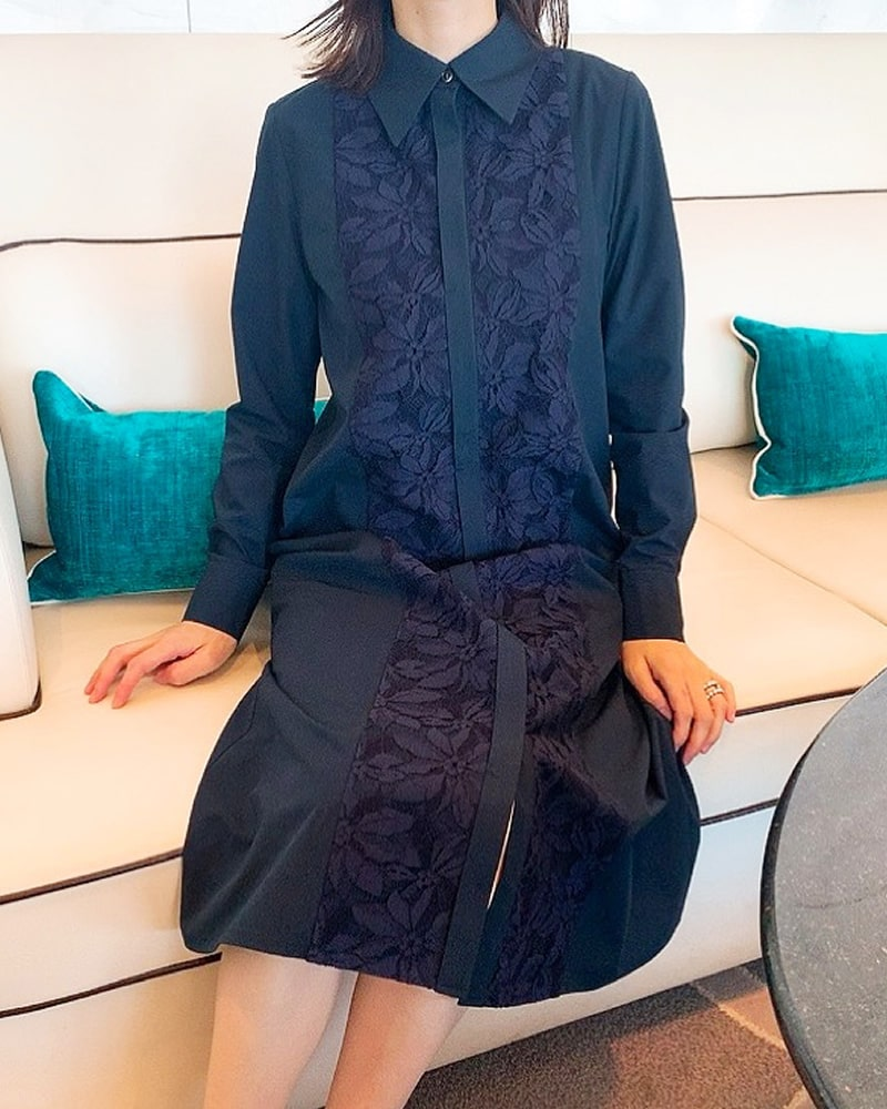【final mark down sale 50%OFF】center lace onepiece