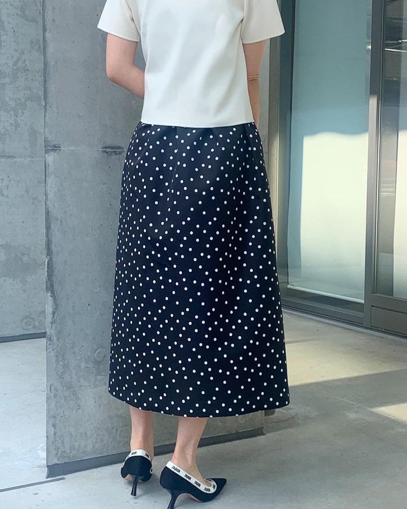 《再販》flare dot skirt